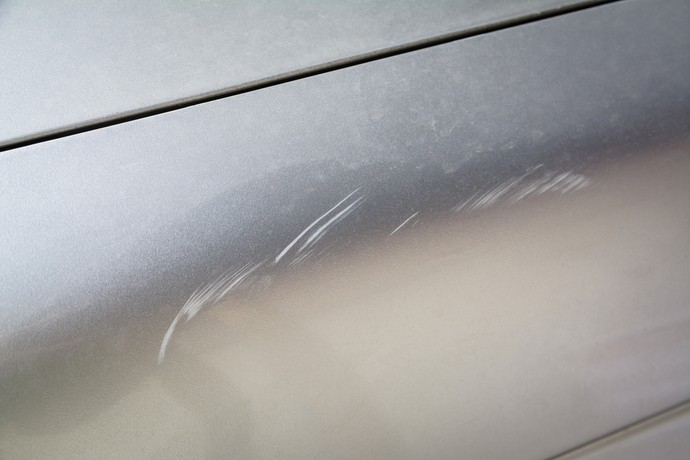 Scratched Car Paint