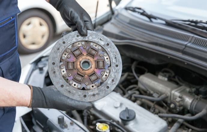 Car Clutch Being Repaired