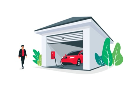 Charging an EV in a Home Garage
