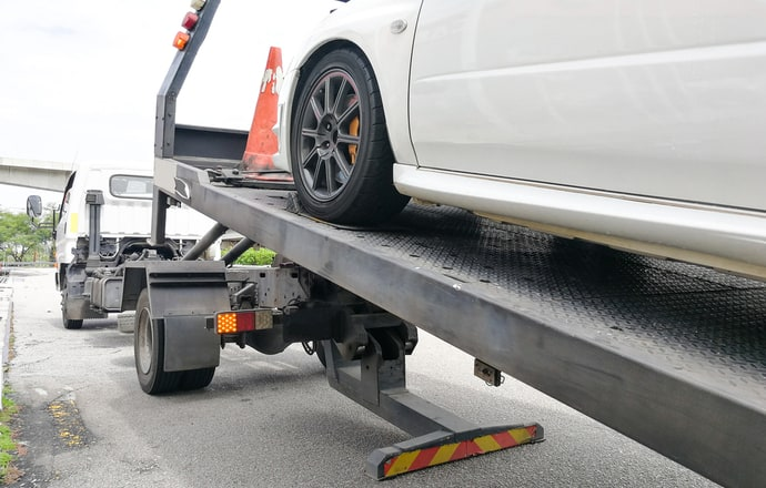 Towing an EV on a truck