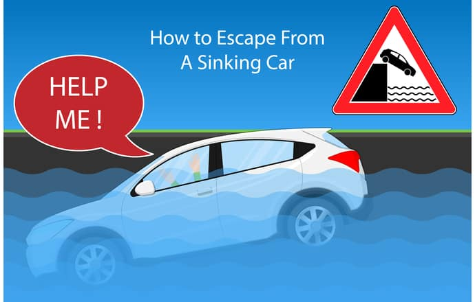 Escaping A Sinking Car With Children